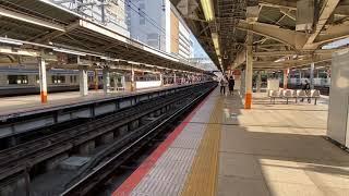 E257系2000番台NA-08編成特急踊り子1号伊豆急下田行き、横浜駅入線〜発車シーン。