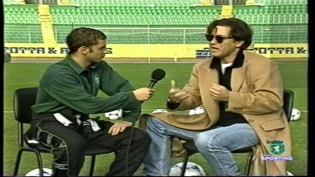 Simão Sabrosa (Sporting) e Virgílio Castelo (Actor) em 06/01/1999