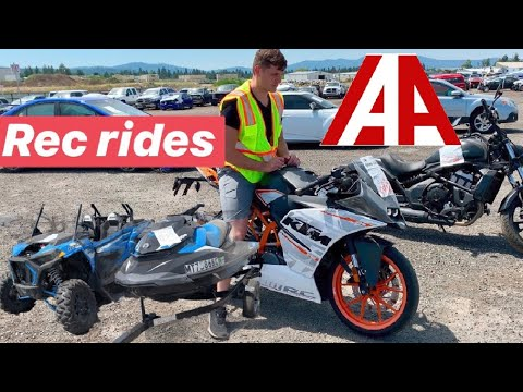 IAA Recreational Rides Walk Around Totaled Motorcycles Carnage