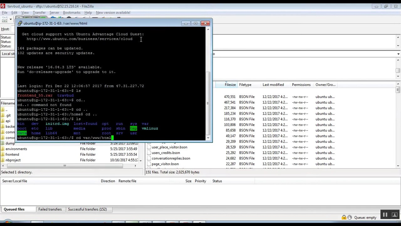 mongodb import complete database bson through putty youtube