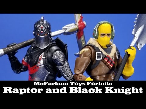 Fortnite Black Knight And Raptor Mcfarlane Toys Epic Games Action
