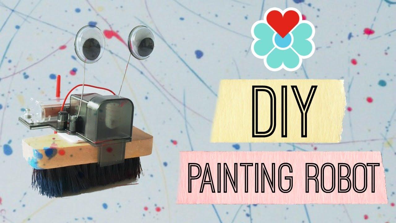 jewelbits diy painting robot brush robot kit youtube. Black Bedroom Furniture Sets. Home Design Ideas