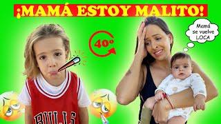 DYLAN NO VA AL COLEGIO PORQUE ESTÁ ENFERMO | Familia Amiguindy