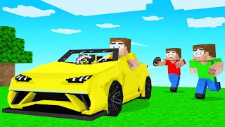 HUNTERS Vs SUPERCAR SPEEDRUNNER In Minecraft!