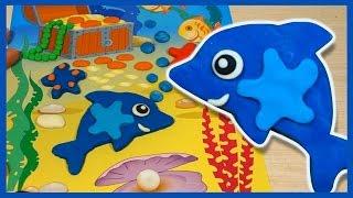 Лепим из пластилина ДЕЛЬФИНА. Мультфильм. Dolphin in Plasticine. Play-Doh