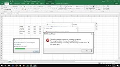 How to Fix There isn't Enough Memory to Complete this Action in MS Excel 2016