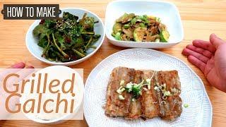 Dinner Banchans 2: Grilled Galchi, Spinach Kimchi & Shiitake-Zucchini Stirfry