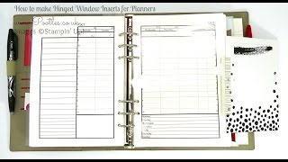 Diary Planner Insert Window Tutorial using Project Life