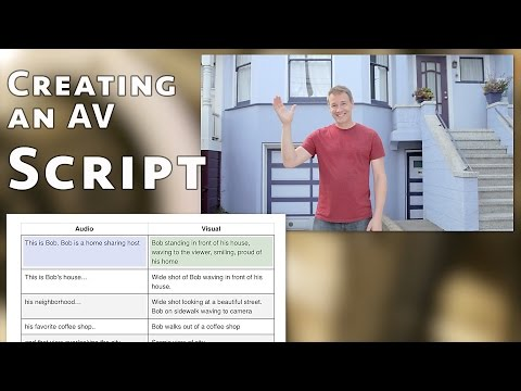 how to create and populate an av script template