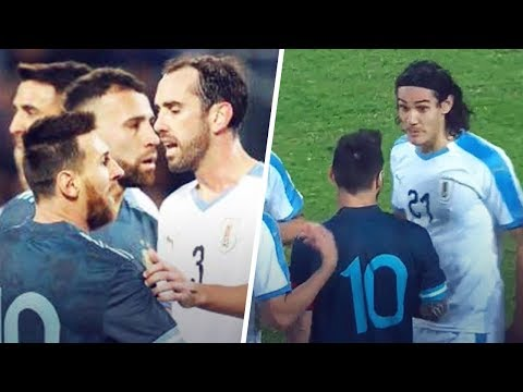 The Reason Why Messi Wanted To Fight Cavani During Argentina-Uruguay   Oh My Goal