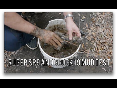 Ruger SR9 versus Glock 19 Mud Test: