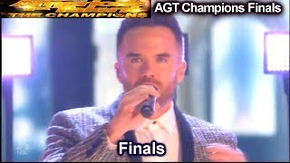 Brian Justin Crum sings Never Enough  | America's Got Talent Champions Finals AGT