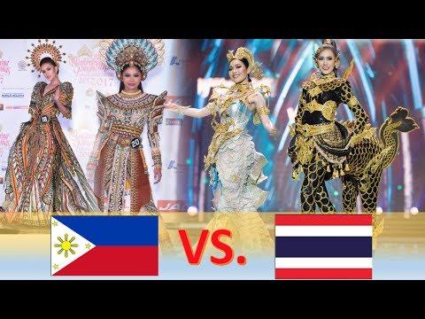 Philippines (Bb. Pilipinas 2017) VS. Thailand (Miss Grand Thailand 2017) - NATIONAL COSTUMES