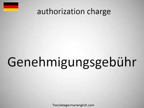 authorization charge