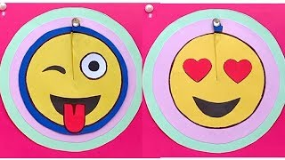 Funny Emoji ideas - Amazing crafts | Emoji Diy Paper Magic Card | Face Changer Tutorial