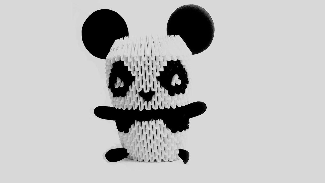 Oso Panda Origami 3D TUTORIAL