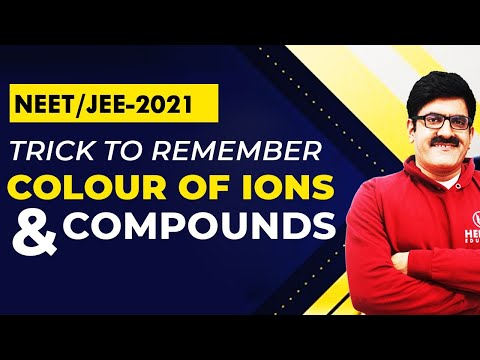 Trick to remember Colour of ions and compounds by Er. Dushyant Kumar(B.Tech. IIT-Roorkee)