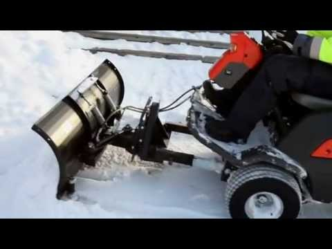 Husqvarna P 520d Snow Blade In Action Youtube