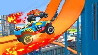 МАШИНКИ МОНСТРЫ Race off Hot wheels Игровой мультик про тачки для детей гонки на машинках HD