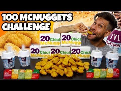 100 MCNUGGETS MCDONALD CHALLENGE con rinforzo di 4 MCFLURRY - MAN VS FOOD