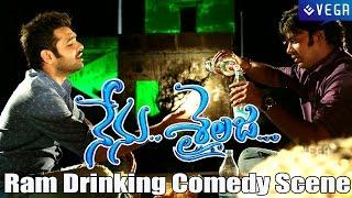 Nenu Sailaja Movie Deleted Scene | Ram Drinking at Beach Comedy Scene