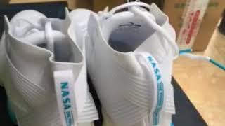 Anta x NASA Seed Blast-off Men's Professional High Basketball Match Shoes - White/Blue
