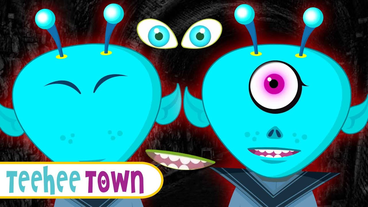 Midnight MAGIC | Find The Missing Alien Face | Spooky Finger Family Songs By Teehee Town