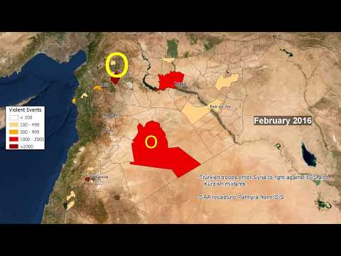 Syrian Civil War Timeline Mapped Using GDELT Violent Events