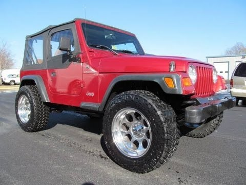 1999 jeep wrangler se lifted for sale youtube. Black Bedroom Furniture Sets. Home Design Ideas