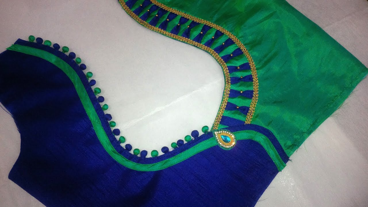 Tamils stitching neck blouse cutting and models newbury street