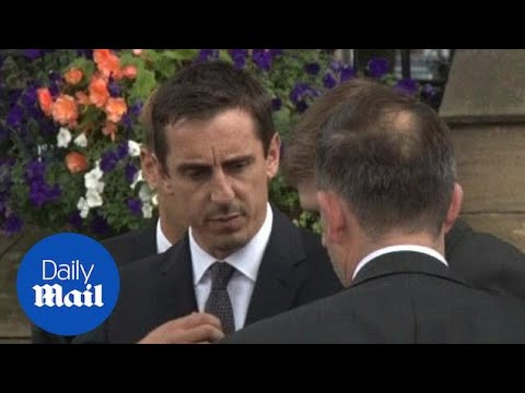 Gary and Phil Neville pay their respects to their father - Daily Mail
