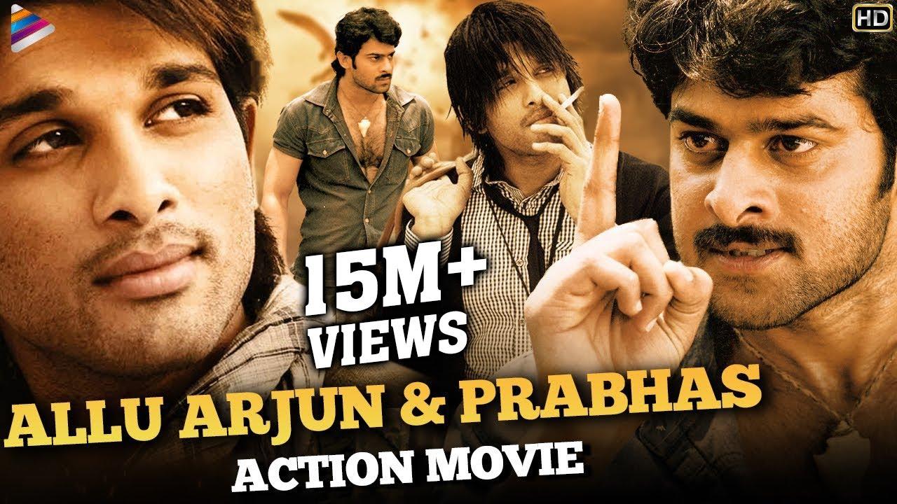 Allu Arjun & Prabhas Action Movie HD | South Indian Hindi Dubbed Action Movies | Telugu Filmnaga