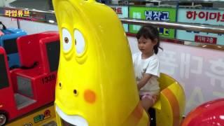 라임이가 라바 옐로 자동차 타기 게임기 타요 장난감  Lava Yellow Ride Toys Game Tayo đồ chơi  ของเล่น 라임튜브