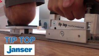 Janser řezač TIP TOP a studený svár na podlaze