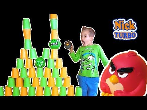 Angry Birds ОТКРЫВАЕМ ПОСЫЛКУ С ИГРУШКАМИ Яйца Киндер Сюрприз Видео детям. Kinder Surprise, Unboxing