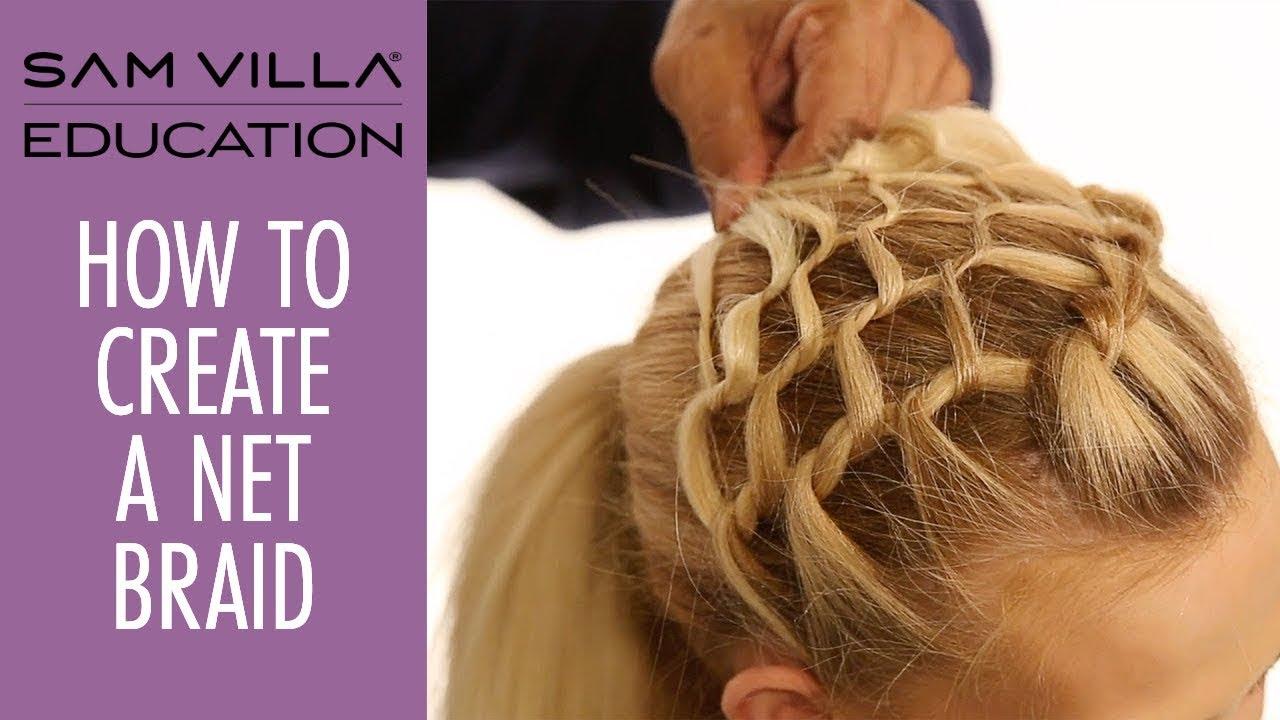How To Create a Net Braid | Fishnet Braid Tutorial - YouTube