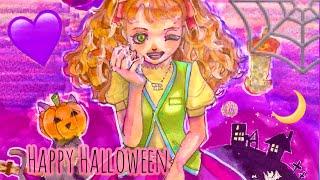 イタズラ魔女の可愛いイラストをコピックで描いてみた!Drawing Halloween Illustration By Sing Copic!!