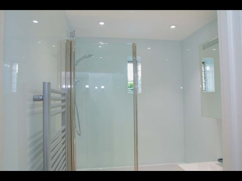 Bathroom Glass new bathroom glass wall cladding - creoglass - youtube