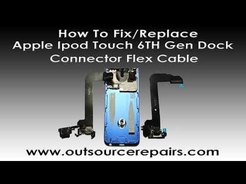 How To Fix Replace Apple Ipod Touch 6TH Gen Dock/Charging Port Flex Cable