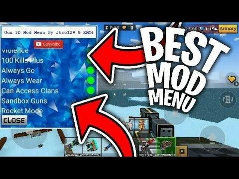THE BEST MOD MENU IN PIXEL GUN 3D! - UNLIMITED AMMO, SUPER JUMP, & MORE!
