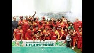 Pakistan Super League 2018 Islamabad Uinted Champion Psl 2018!