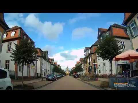 D: Stadt Bad Arolsen. Landkreis Waldeck-Frankenberg. Fahrt durch die Stadt. August 2016