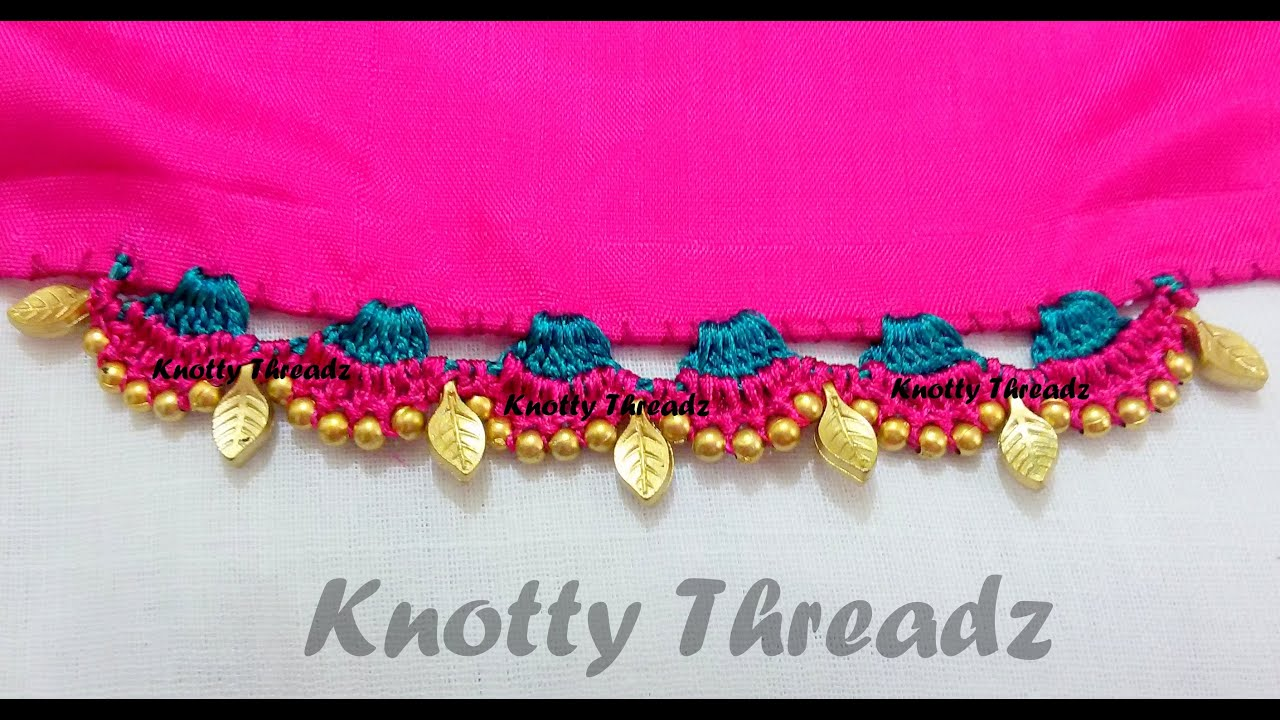 Krosha Designs : Crochet Krosha - How to make Saree Tassels - Design 2 - YouTube