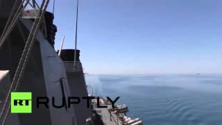 Неожиданно! Матрос американского эсминца обделался в прямом эфире при виде российского Су 24