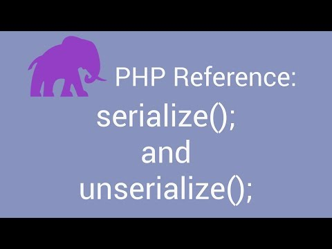 PHP Reference: Saving An Array As A String With Serialize();