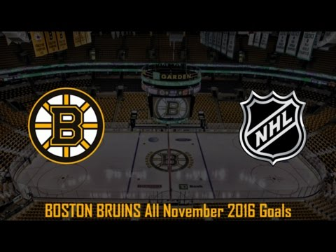 Boston Bruins - NHL Season 2016/2017 - November (All Goals)