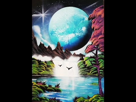 Spray Art Tutorial Landscape Mountains Lake 2017 ITA