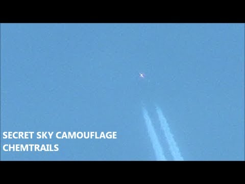 INVISIBLE MILITARY AIRCRAFT SPRAYING CHEMTRAILS - TOP SECRET SKY CAMOUFLAGE on MILITARY JETS