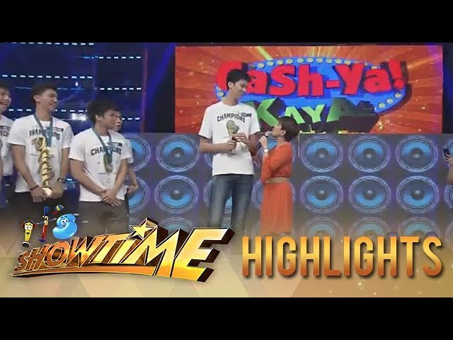 Its Showtime Cash-ya: Tiyang Amy is overwhelmed by Kai Sottos height