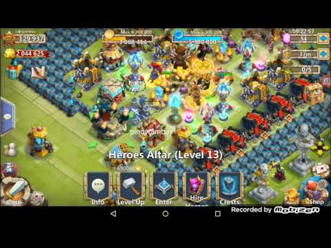 Castle Clash Boss 5 Last 3 Min's (F2P Team) Perma Slow Down